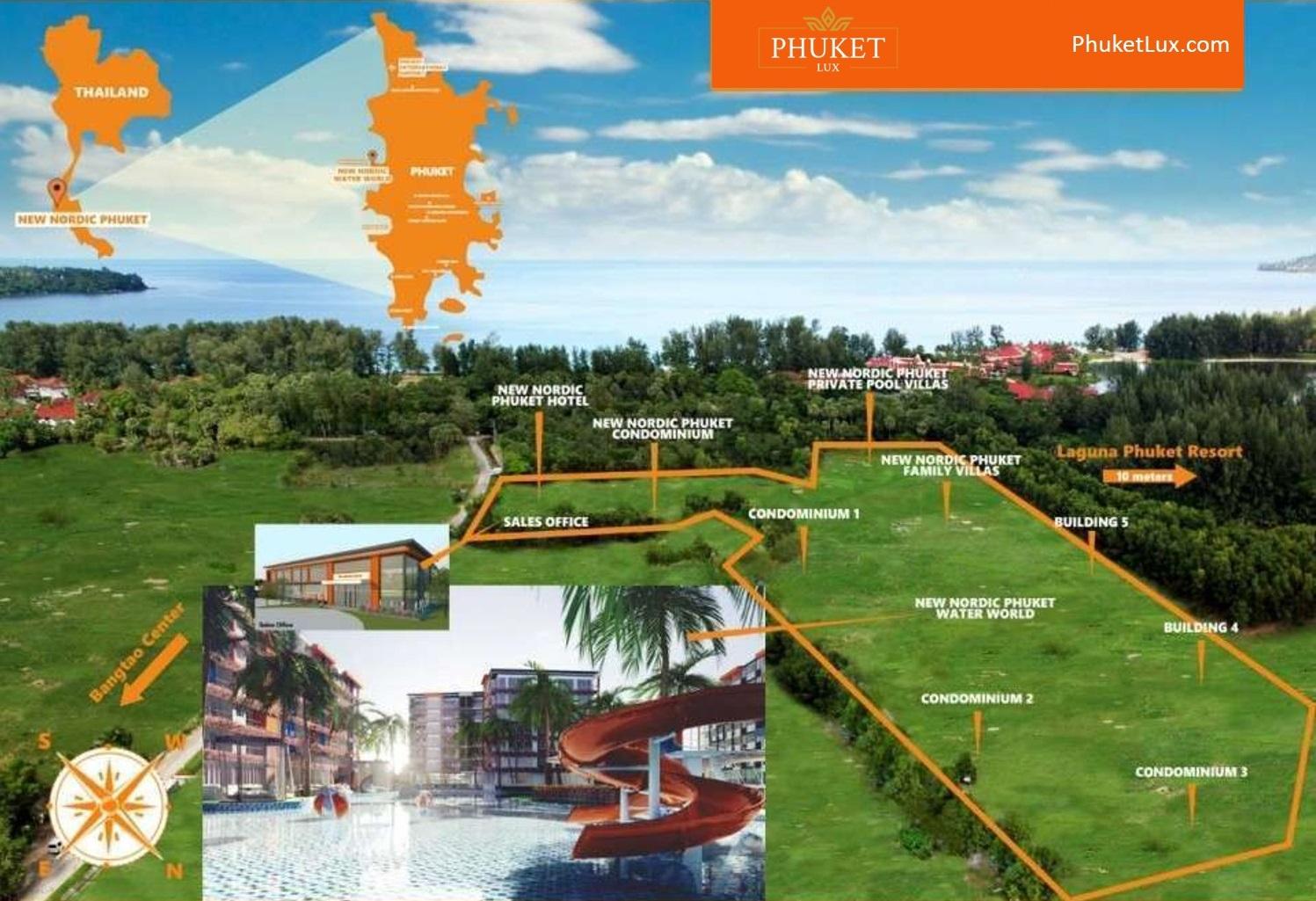 Bang TaoWaterworld-PhuketLux-map