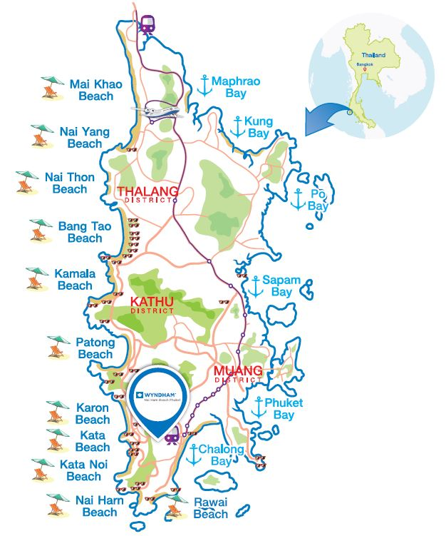 Wyndham Nai Harn Map