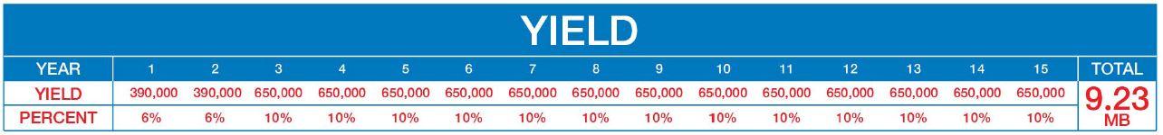 yield 15 years